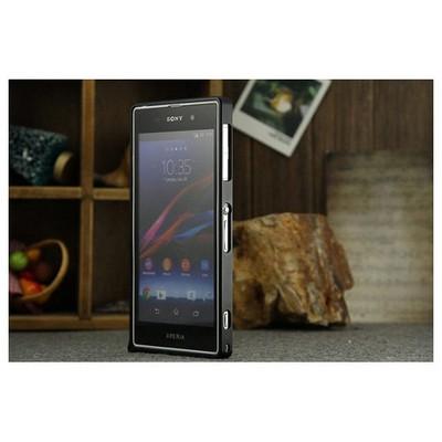 Microsonic Sony Xperia Z Thin Metal Bumper Kılıf Siyah Cep Telefonu Kılıfı