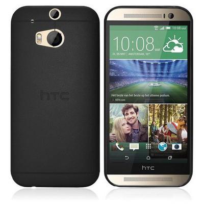Microsonic Ultra Thin 0.2mm Htc One 2 M8 Kılıf Siyah Cep Telefonu Kılıfı