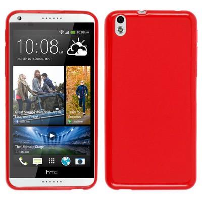 Microsonic Glossy Soft Htc Desire 816 Kılıf Kırmızı Cep Telefonu Kılıfı