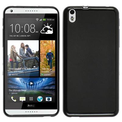 Microsonic Glossy Soft Htc Desire 816 Kılıf Siyah Cep Telefonu Kılıfı