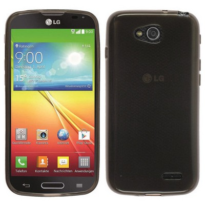 Microsonic parlak Soft Lg L90 Kılıf Siyah Cep Telefonu Kılıfı