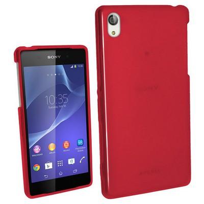 Microsonic Glossy Soft Sony Xperia Z2 Kılıf Kırmızı Cep Telefonu Kılıfı