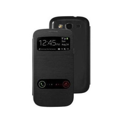 Microsonic View Cover Delux Kapaklı Samsung Galaxy Grand Neo I9060 Kılıf Siyah Cep Telefonu Kılıfı