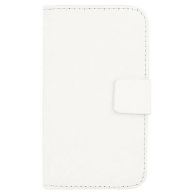 Microsonic Cüzdanlı Deri Lg L70 Kılıf Beyaz Cep Telefonu Kılıfı