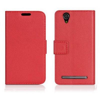 Microsonic Cüzdanlı Deri Sony Xperia T2 Ultra Kılıf Kırmızı Cep Telefonu Kılıfı