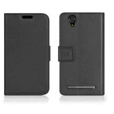 Microsonic Cüzdanlı Deri Sony Xperia T2 Ultra Kılıf Siyah Cep Telefonu Kılıfı
