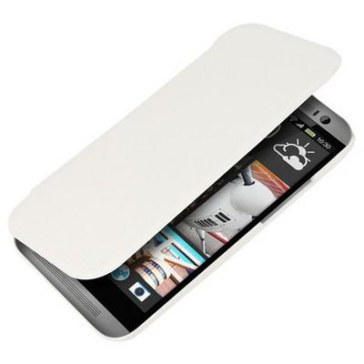 Microsonic Ultra Thin Kapaklı Kılıf Htc One M8 Beyaz Cep Telefonu Kılıfı