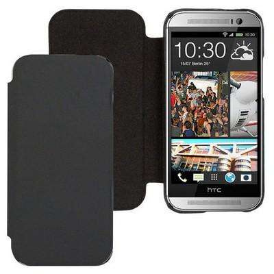 Microsonic Ultra Thin Kapaklı Kılıf Htc One M8 Siyah Cep Telefonu Kılıfı