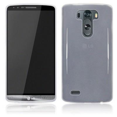 Microsonic Glossy Soft Lg G3 Kılıf Beyaz Cep Telefonu Kılıfı