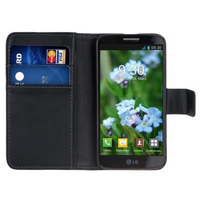 Microsonic Cüzdanlı Deri Lg G2 Mini Kılıf Siyah Cep Telefonu Kılıfı