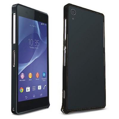 Microsonic Sony Xperia Z2 Thin Metal Bumper Kılıf Siyah Cep Telefonu Kılıfı