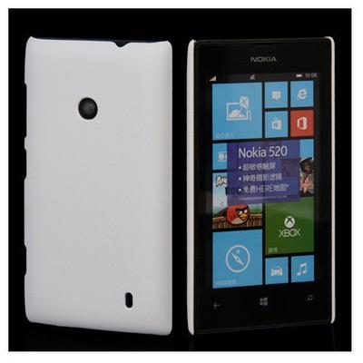 Microsonic Rubber Nokia Lumia 525 Kılıf Beyaz Cep Telefonu Kılıfı