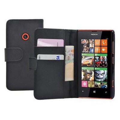 Microsonic Cüzdanlı Deri Nokia Lumia 525 Kılıf - Siyah Cep Telefonu Kılıfı