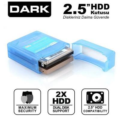 """Dark Dk-ac-dak2b 2.5"""" Çift Disk Koruma Ve Taşıma Kutusu Harici Disk Kutusu"""