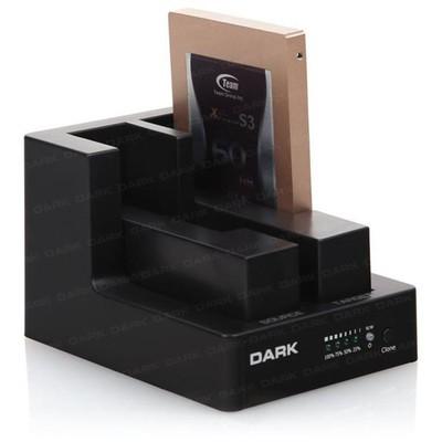 """Dark Dk-ac-dsd22c Storex 2.5""""/3.5"""" Inç Çift Disk Destekli Tek Tuş Klonlama Usb3.0 Docking Harici Disk Kutusu"""