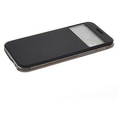 Microsonic View Cover Delux Kapaklı Htc One M8 Kılıf Siyah Cep Telefonu Kılıfı