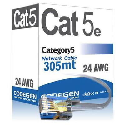Codegen Cod501 305 Metre Cat5e Utp 24 Awg su Gri Renk Network Kablosu