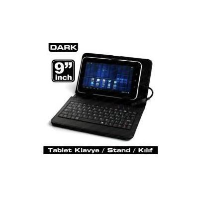 """Dark Dk-ac-tbkb901 9"""" Usb Klavyeli Deri Ajandalı Kılıf Tablet Standı"""