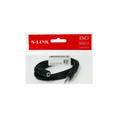 S-Link Sl-858 1.5 Metre 3.5mm Jak Stereo Uzatma Kablosu