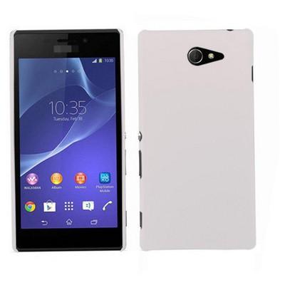 Microsonic Premium Slim Kılıf Sony Xperia M2 Beyaz Cep Telefonu Kılıfı