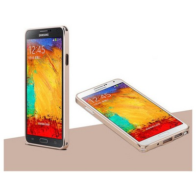 Microsonic Samsung Galaxy Note 3 Ultra Thin Metal Bumper Kılıf Sarı Cep Telefonu Kılıfı