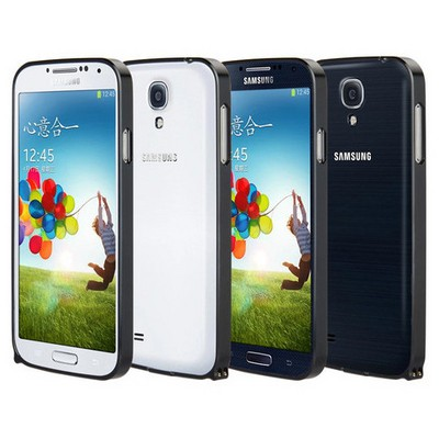 Microsonic Samsung Galaxy S4 Ultra Thin Metal Bumper Kılıf Siyah Cep Telefonu Kılıfı