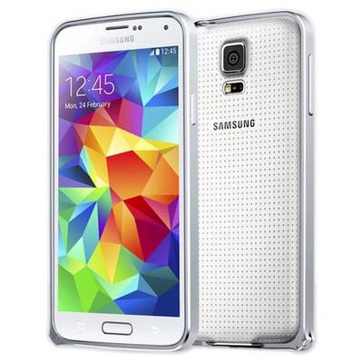 Microsonic Samsung Galaxy S5 Ultra Thin Metal Bumper Kılıf Gümüş Cep Telefonu Kılıfı