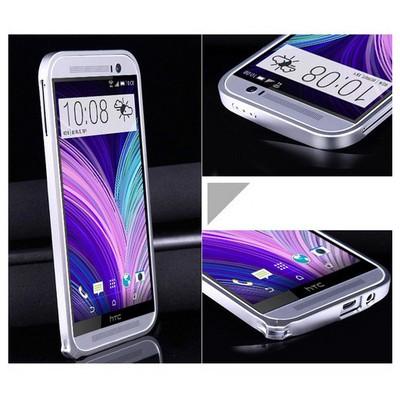 Microsonic Htc One M8 Ultra Thin Metal Bumper Kılıf Gümüş Cep Telefonu Kılıfı