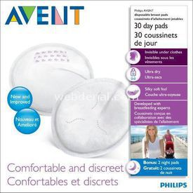 Philips Avent Philips Gündüz Kullan At Göğüs Pedi 30 Lu Bebek Besleme
