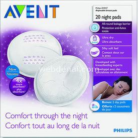 Philips Avent Philips Gece Kullan At Göğüs Pedi 20 Li Bebek Besleme
