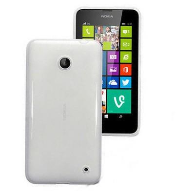 Microsonic Glossy Nokia Lumia 630 / 635 Kılıf Beyaz Cep Telefonu Kılıfı