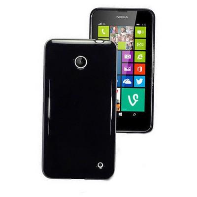 Microsonic Glossy Nokia Lumia 630 / 635 Kılıf Siyah Cep Telefonu Kılıfı