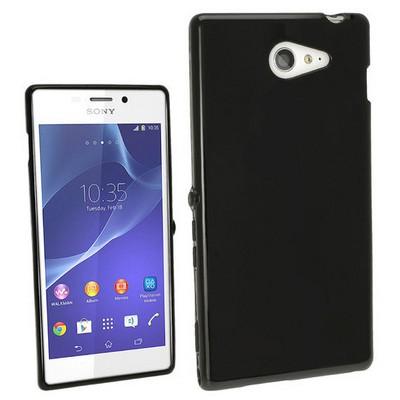 Microsonic Glossy Soft Sony Xperia M2 Kılıf Siyah Cep Telefonu Kılıfı