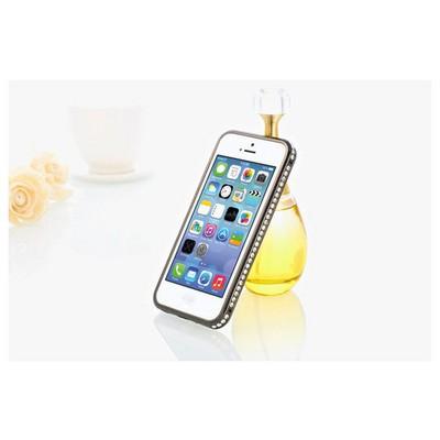 Microsonic Iphone 5 & 5s Taşlı Metal Bumper Kılıf Siyah Cep Telefonu Kılıfı