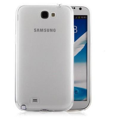 Microsonic Samsung Galaxy Note 2 Clear Soft Şeffaf Kılıf Cep Telefonu Kılıfı