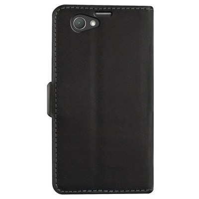 Microsonic Cüzdanlı Deri Sony Xperia Z1 Compact Kılıf Siyah Cep Telefonu Kılıfı