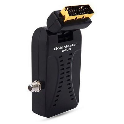 Goldmaster Micro Zeus Altın Uçlu Scart Uydu Alıcı