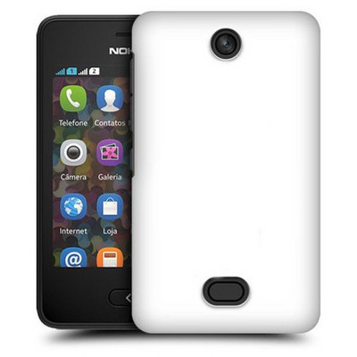 Microsonic Premium Slim Nokia Asha 501 Kılıf Beyaz Cep Telefonu Kılıfı
