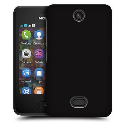 Microsonic Premium Slim Nokia Asha 501 Kılıf Siyah Cep Telefonu Kılıfı