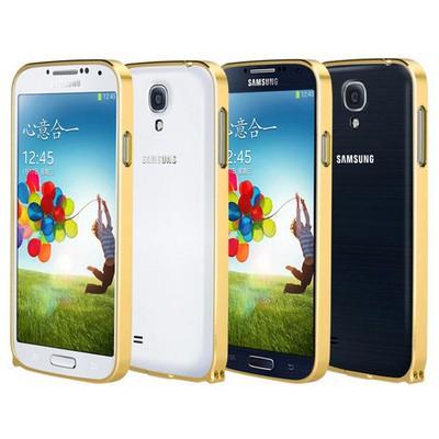 Microsonic Samsung Galaxy S4 Ultra Thin Metal Bumper Kılıf Sarı Cep Telefonu Kılıfı