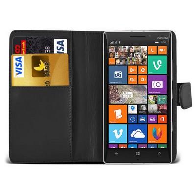 Microsonic Cüzdanlı Deri Nokia Lumia 930 Kılıf Siyah Cep Telefonu Kılıfı