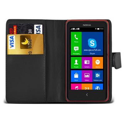 Microsonic Cüzdanlı Deri Nokia Xl Kılıf Siyah Cep Telefonu Kılıfı