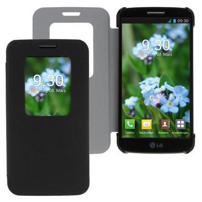 Microsonic View Cover Delux Kapaklı Lg G2 Mini Kılıf Siyah Cep Telefonu Kılıfı