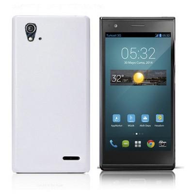Microsonic Premium Slim Turkcell T50 Kılıf Beyaz Cep Telefonu Kılıfı