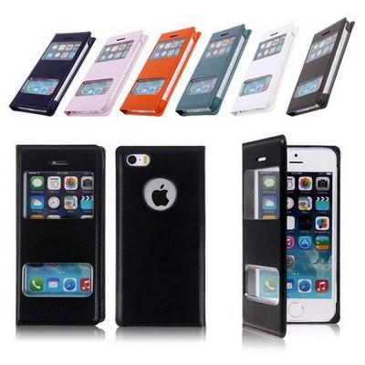 Microsonic Dual View Cover Delux Kapaklı Iphone 5s Kılıf Siyah Cep Telefonu Kılıfı