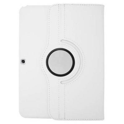 Microsonic 360 Rotating Stand Deri Samsung Galaxy Tab4 10.1 Inch T530 Kılıf Beyaz Tablet Kılıfı