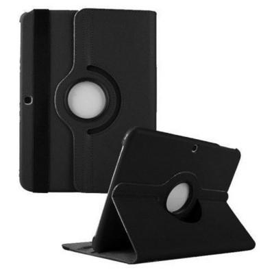 Microsonic 360 Rotating Stand Deri Samsung Galaxy Tab4 10.1 Inch T530 Kılıf Siyah Tablet Kılıfı