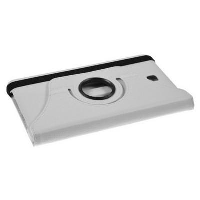 Microsonic 360 Rotating Stand Deri Samsung Galaxy Tab4 7 Inch T230 Kılıf Beyaz Tablet Kılıfı