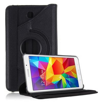 Microsonic 360 Rotating Stand Deri Samsung Galaxy Tab4 7 Inch T230 Kılıf Siyah Tablet Kılıfı