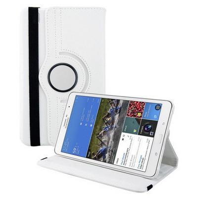 Microsonic 360 Rotating Stand Deri Samsung Galaxy Tab4 8 Inch T330 Kılıf Beyaz Tablet Kılıfı
